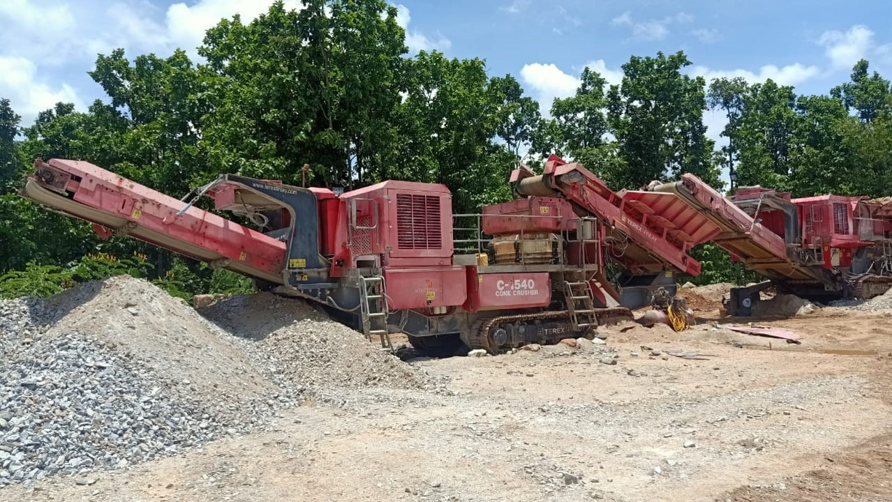 Track Mounted Jaw & Cone Crusher Terex for sale